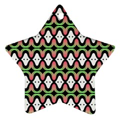 Abstract Pinocchio Journey Nose Booger Pattern Star Ornament (two Sides)