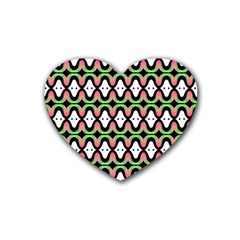 Abstract Pinocchio Journey Nose Booger Pattern Heart Coaster (4 Pack)