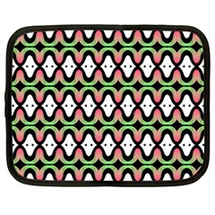 Abstract Pinocchio Journey Nose Booger Pattern Netbook Case (xxl)