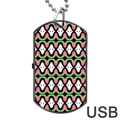 Abstract Pinocchio Journey Nose Booger Pattern Dog Tag USB Flash (Two Sides)