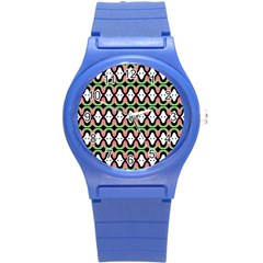 Abstract Pinocchio Journey Nose Booger Pattern Round Plastic Sport Watch (S)