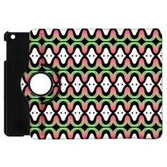 Abstract Pinocchio Journey Nose Booger Pattern Apple iPad Mini Flip 360 Case