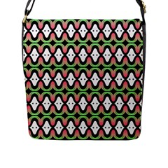 Abstract Pinocchio Journey Nose Booger Pattern Flap Messenger Bag (L)