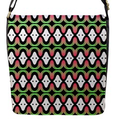 Abstract Pinocchio Journey Nose Booger Pattern Flap Messenger Bag (S)