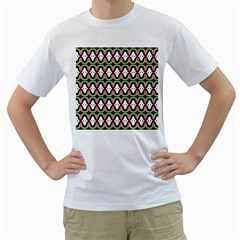 Abstract Pinocchio Journey Nose Booger Pattern Men s T-Shirt (White)