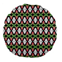Abstract Pinocchio Journey Nose Booger Pattern Large 18  Premium Flano Round Cushions
