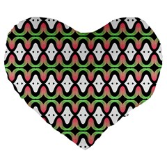 Abstract Pinocchio Journey Nose Booger Pattern Large 19  Premium Flano Heart Shape Cushions