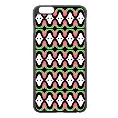 Abstract Pinocchio Journey Nose Booger Pattern Apple iPhone 6 Plus/6S Plus Black Enamel Case