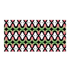 Abstract Pinocchio Journey Nose Booger Pattern Satin Wrap