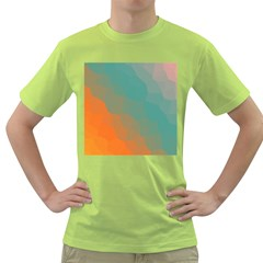 Abstract Elegant Background Pattern Green T-Shirt