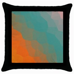 Abstract Elegant Background Pattern Throw Pillow Case (Black)