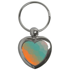 Abstract Elegant Background Pattern Key Chains (Heart)