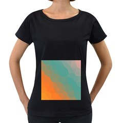 Abstract Elegant Background Pattern Women s Loose Fit T Shirt (black)