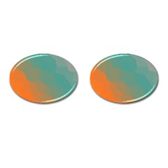 Abstract Elegant Background Pattern Cufflinks (Oval)