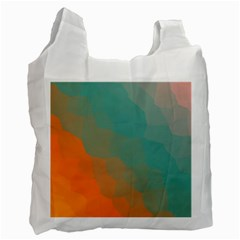 Abstract Elegant Background Pattern Recycle Bag (one Side)