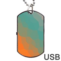 Abstract Elegant Background Pattern Dog Tag USB Flash (Two Sides)