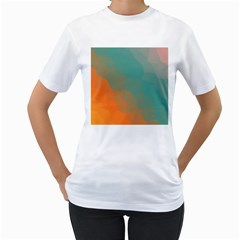 Abstract Elegant Background Pattern Women s T-Shirt (White)