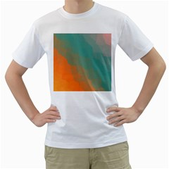 Abstract Elegant Background Pattern Men s T-Shirt (White)