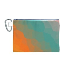 Abstract Elegant Background Pattern Canvas Cosmetic Bag (M)