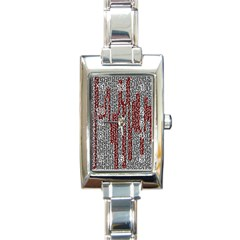 Abstract Geometry Machinery Wire Rectangle Italian Charm Watch
