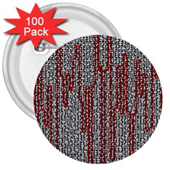 Abstract Geometry Machinery Wire 3  Buttons (100 Pack)