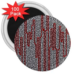 Abstract Geometry Machinery Wire 3  Magnets (100 Pack)