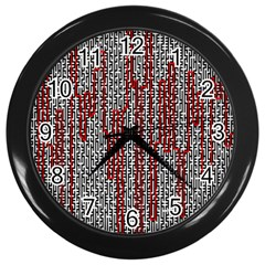 Abstract Geometry Machinery Wire Wall Clocks (Black)