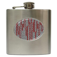 Abstract Geometry Machinery Wire Hip Flask (6 oz)