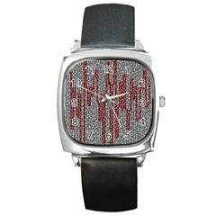 Abstract Geometry Machinery Wire Square Metal Watch