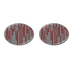 Abstract Geometry Machinery Wire Cufflinks (Oval)