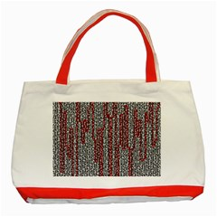 Abstract Geometry Machinery Wire Classic Tote Bag (Red)