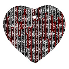 Abstract Geometry Machinery Wire Heart Ornament (two Sides)