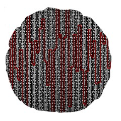 Abstract Geometry Machinery Wire Large 18  Premium Round Cushions