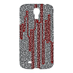 Abstract Geometry Machinery Wire Samsung Galaxy S4 I9500/I9505 Hardshell Case