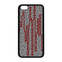 Abstract Geometry Machinery Wire Apple iPhone 5C Seamless Case (Black)
