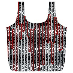 Abstract Geometry Machinery Wire Full Print Recycle Bags (L)