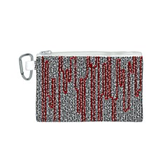 Abstract Geometry Machinery Wire Canvas Cosmetic Bag (S)