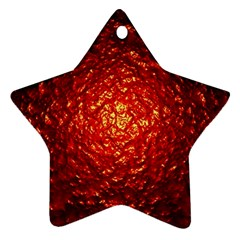 Abstract Red Lava Effect Ornament (star)
