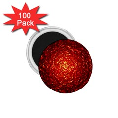 Abstract Red Lava Effect 1 75  Magnets (100 Pack)