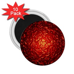 Abstract Red Lava Effect 2 25  Magnets (10 Pack)