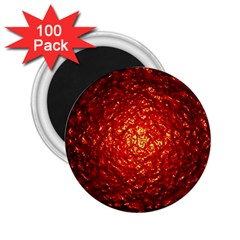 Abstract Red Lava Effect 2 25  Magnets (100 Pack)