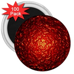 Abstract Red Lava Effect 3  Magnets (100 Pack)