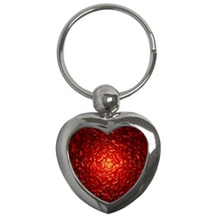 Abstract Red Lava Effect Key Chains (heart)