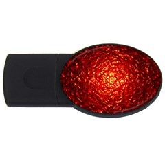 Abstract Red Lava Effect Usb Flash Drive Oval (2 Gb)