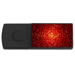 Abstract Red Lava Effect USB Flash Drive Rectangular (4 GB)