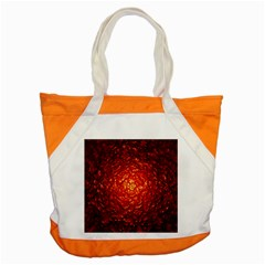Abstract Red Lava Effect Accent Tote Bag