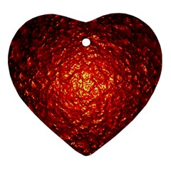 Abstract Red Lava Effect Heart Ornament (Two Sides)