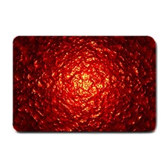 Abstract Red Lava Effect Small Doormat