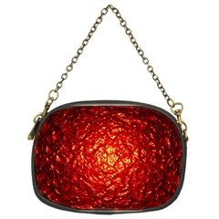 Abstract Red Lava Effect Chain Purses (Two Sides)