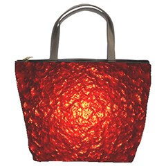 Abstract Red Lava Effect Bucket Bags